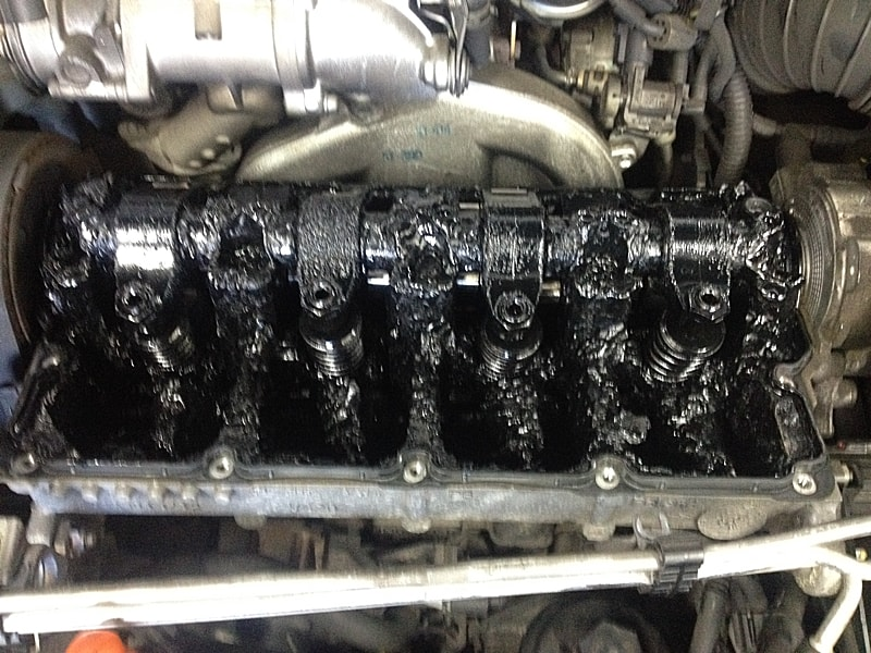 Seized engine because of not having a regular oil change